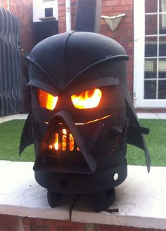 Vader Outdoor Fireplace - how cool?!