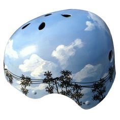 This sky is available in more times of day than seen here. A water resistant varnish on this helmet will prevent chipping and creates a shiny