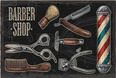 Shaving Razor, Dark Backgrounds, Embroidery Art, Barber Shop, Vector Free, Graphic Design, Tools, Vintage, Scissors