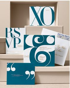 I like how graphic these are. #invitation #invitations