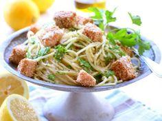 enkelt recept med lax och pasta