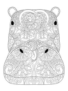 Fox Coloring Page, Cute Coloring Pages, Mandala Coloring Pages, Animal Coloring Pages, Coloring Books, Free Adult Coloring, Printable Adult Coloring Pages, Coloring Pages For Kids, Tiger Color