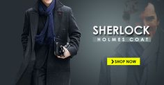 Sherlock Holmes Coat is made to enhance your personality with the touch of detective look. Have this Benedict Cumberbatch Holmes Coat in your wardrobe. Sherlock Holmes Costume, Benedict Cumberbatch, Coat, Sewing Coat, Coats, Peacoats, Jacket