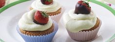 In the mood for a speedy treat? These strawberry and white chocolate cupcakes take no time at all!