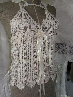 Lace crochet vintage lace boho gypsy mori girl by SummersBreeze