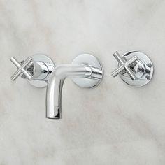 Exira Wall-Mount Bathroom Faucet with Cross Handles • $169.95