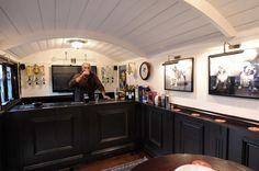 This gives me sooo many ideas...pub shepherd's hut interior