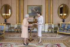 Angelina Jolie with Queen Elizabeth
