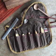 Waxed Canvas Tool Roll by Iron and Resin
