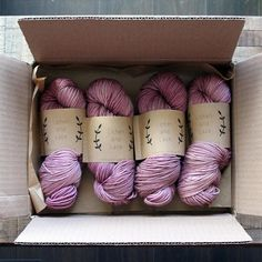 Im thinking about packaging a lot this week - I love receiving special packages from independent businesses that are packed with care and attention. Can you tell me about a recent unboxing experience that wowed you? Sugar Plum in Worsted : @ziemacraft