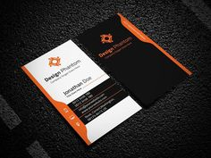 Blue creative business card template for 6 psdfolder my work creative business card template wajeb Gallery