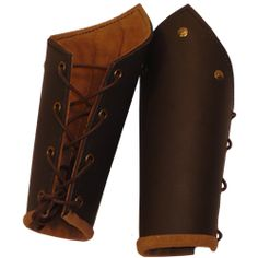 Knights Battle Arm Bracers from Dark Knight Armoury.  The decorative brass bits and metal eyelets detract a bit.