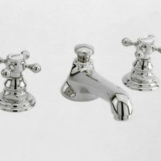 Newport Brass Widespread Faucet with Metal Cross Handles - We love vintage looks and the classic metal cross handle is one of our favorites,...