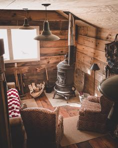"""Cabins And Cottages: wild-cabins: """"Chris Daniele """" . Tiny Cabins, Tiny House Cabin, Cabins And Cottages, Cabin Homes, Log Homes, Small Log Cabin, Rustic Cabins, Cozy Cabin, Winter Cabin"""