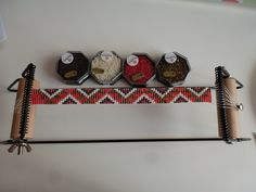 telaio per bracciali a tessitura #perline #gioiellifaidate #bijoux #ispirazioni | perles miyuki
