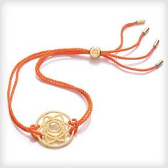 Daisy London Chakra 24ct Yellow Gold Plated Svadhisthana Sacral Chakra Bracelet at Cotton & Gems
