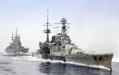 Battlecruiser HMS Repulse leads HMS Prince of Wales as they sail to their fate in the Gulf of Siam 1941 Capital Ship, Naval History, Military History, Pearl Harbor, Ww1 Battles, Hms Prince Of Wales, Hms Ark Royal, Navy Coast Guard, Cruises