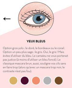 Quelle couleur de mascara pour des yeux bleus