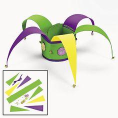 Mardi Gras Jester Hat Craft Kit Makes 12