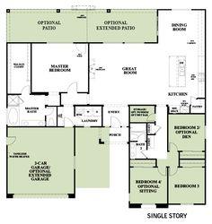 Woodside Homes Floor Plans mariposa at sunridge park - hanford lot 57 | woodside homes