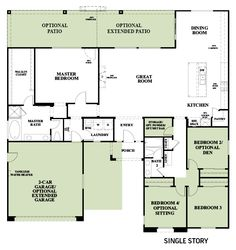 Woodside Homes Floor Plans mariposa at sunridge park - hanford lot 57 | woodside homes
