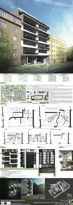 Studentský projekt. LS 2013/2014. FSv ČVUT v Praze. Multi Story Building, Floor Plans, Tower, Rook, Lathe, Building