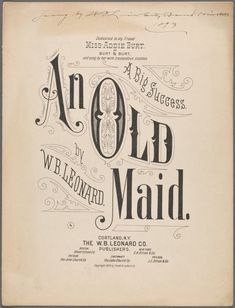 """An Old Sheet music cover Vintage Typography, Typography Letters, Graphic Design Typography, Lettering Design, Japanese Typography, Typography Poster, Vintage Magazine, Drop Cap, Vintage Sheet Music"