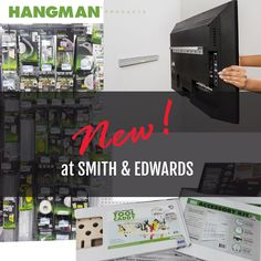 https://blog.smithandedwards.com/hangman-products/ Now that's a different way to hang the TV! Hangman products have all these cool ways to hang tools, speakers, pictures, mirrors, and even the TV on your walls. I've GOT to try this!