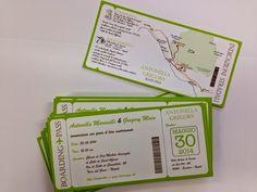 Marta Paper Design: Biglietti aerei come invito partecipazione