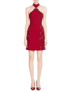 David Koma | Red Wool Dress With Cut-out Detail | Lyst