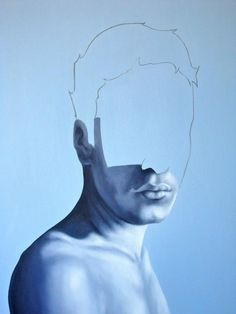 blue - man - portrait - Realistic yet abstract paintings by Eduardo Mata Icaza L'art Du Portrait, Abstract Portrait, Abstract Paintings, Modern Portrait Artists, Realistic Paintings, Painting Inspiration, Art Inspo, Cupuacu, Kunst Online