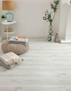 White Oak Laminate Flooring, Direct Wood Flooring, Real Wood Floors, Living Room Lighting, Living Room Decor, White Wooden Floor, Carpet Shops, Thing 1, Engineered Wood