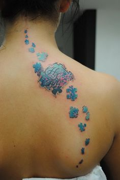 Puzzle Piece on Back - Cool Puzzle Piece Tattoo Design Ideas, http://hative.com/cool-puzzle-piece-tattoo-design-ideas/,