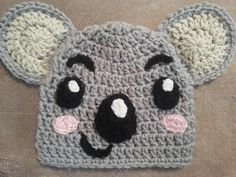 FREE Koala Bear Hat Crochet Pattern and Tutorial by Niki Wyre  ༺✿Teresa Restegui http://www.pinterest.com/teretegui/✿༻