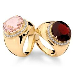 Gold, Diamond, Morganite and Rhodolite by Brumani | More bling here: http://mylusciouslife.com/photo-galleries/bling-fling/
