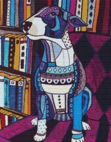 Bull Terrier Cross Stitch Kit - Heather Galler GR
