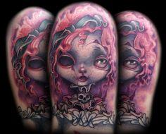 Kelly Doty - Creepy Doll tattoo