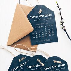 Save the date kaart/label Wedding Labels, Wedding Invitations, Stuff To Do, Wedding Planner, Dream Wedding, Wedding Inspiration, Dating, Etsy, Beautiful