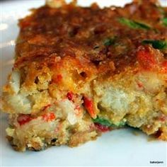 Crawfish Cornbread Recipe Side Dishes, Breads with yellow corn meal, baking soda, salt, eggs, onion, green bell pepper, pimentos, vegetable oil, shredded cheddar cheese, cream style corn, jalapeno chilies, crawfish, seasoning salt, cayenne pepper, garlic powder