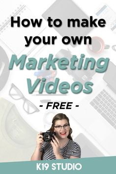 Learn to make your own videos! Make stunning marketing videos for your small business. Video marketing doesn't have to be expensive! // K19 Studio