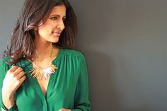 Slate flare necklace