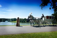 Horse and carriage #wedding #blenheimpalace