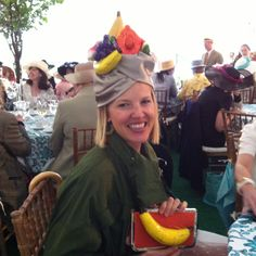 Bananas for Lela Rose at Central Park's Hat Lunch