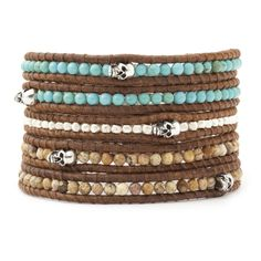 Turquoise Beads Picture Jasper Stones With Silver by VIPbeads, $18.99