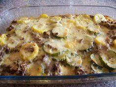 Sausage Squash Casserole :http://lowcarbyum.com/low-carb-sausage-squash-casserole/
