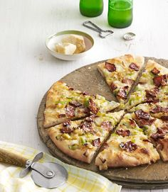 Caramelized-Leek and Bacon PizzaDelish