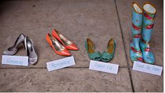 cute picture of the brides shoes @Kristen Henige Ochomogo- you might like too!