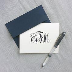 Personalized Stationery Monogram Folded Notecard Gift Set
