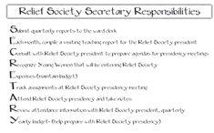 Relief Society Secretary Responsibilities