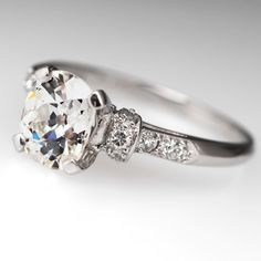 Old Miner Diamond Engagement Ring